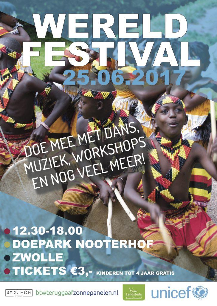 Poster Unicef wereldfestival