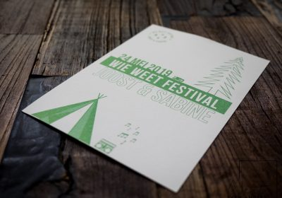 Festival bruiloft ontwerp