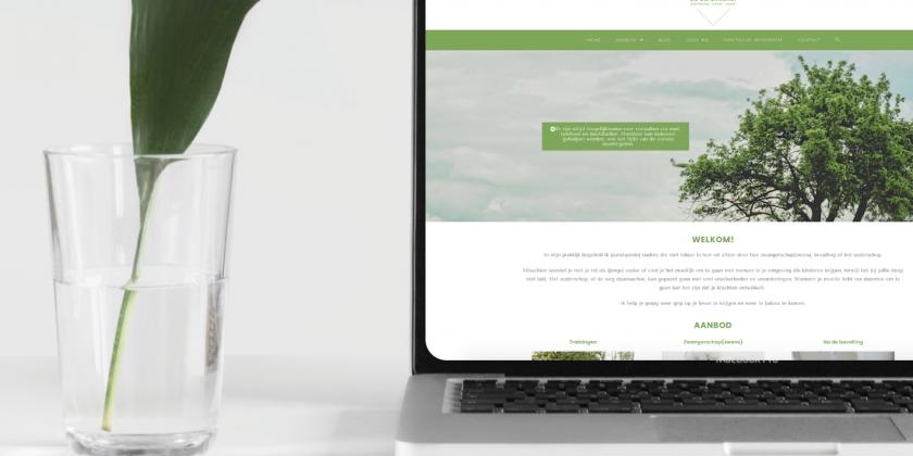 Verfrissend website ontwerp